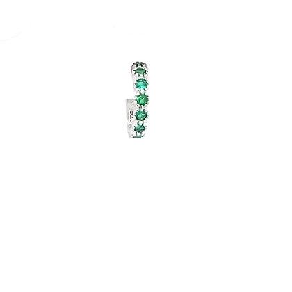 Single Emerald Green Huggie