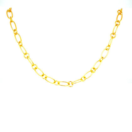 Gold Chunky Curb Chain Choker