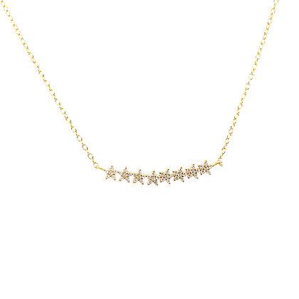 Star Crystal Bar Necklace