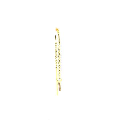 Single Bar Threader Earring