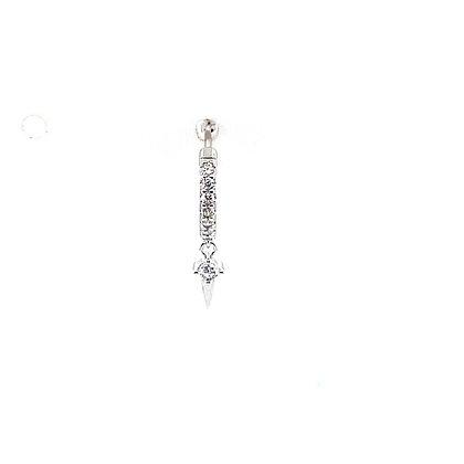 Single Crystal Dagger Hoop
