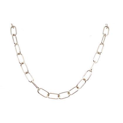 Silver Chunky Curb Chain Choker
