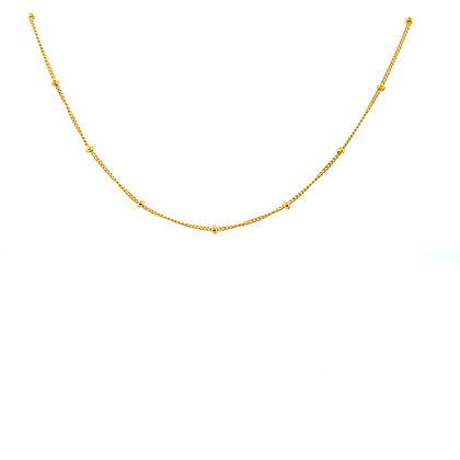Gold Bead Thin Choker