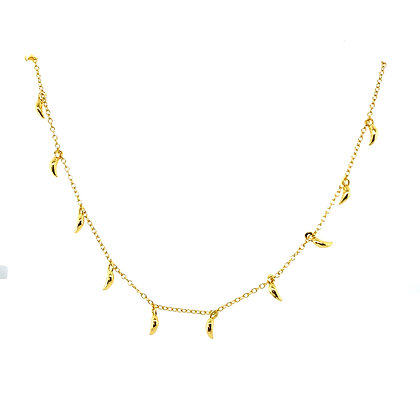 Gold Mini Fang Necklace