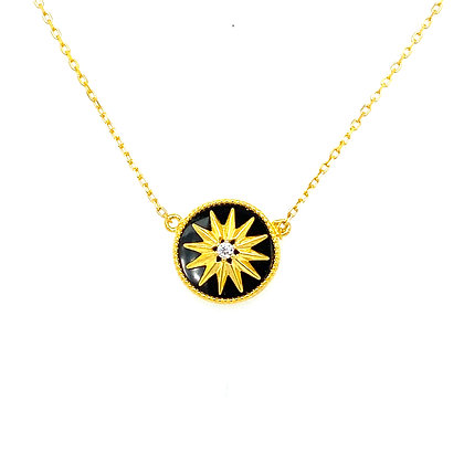 Black & Gold Star Necklace