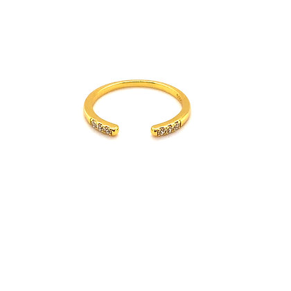 Open Crystal Adjustable Ring