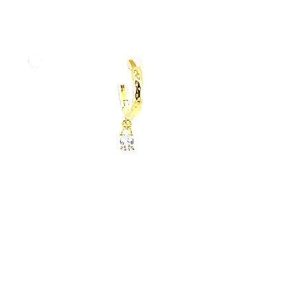 Single Izzy Clear Crystal Charm Huggie