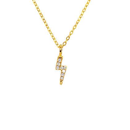 Gold Lightning Crystal Necklace