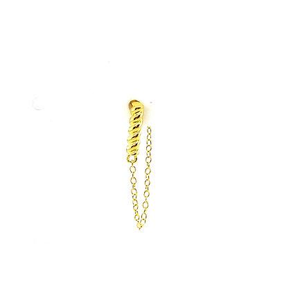 Single Twisted Bar Stud Chain