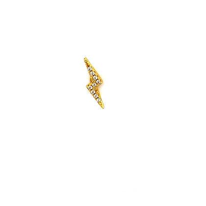 Single Gold Lightning Crystal Stud Climber