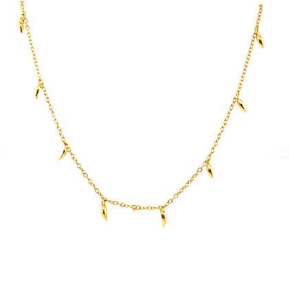 Gold Mini Spike Choker Necklace