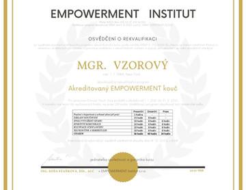 KOUČINK - certifikáty o ukončení studia.