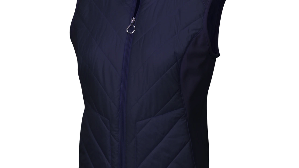 Greg Norman Crested Ladies CHEVRON QUILTED CIRE VEST