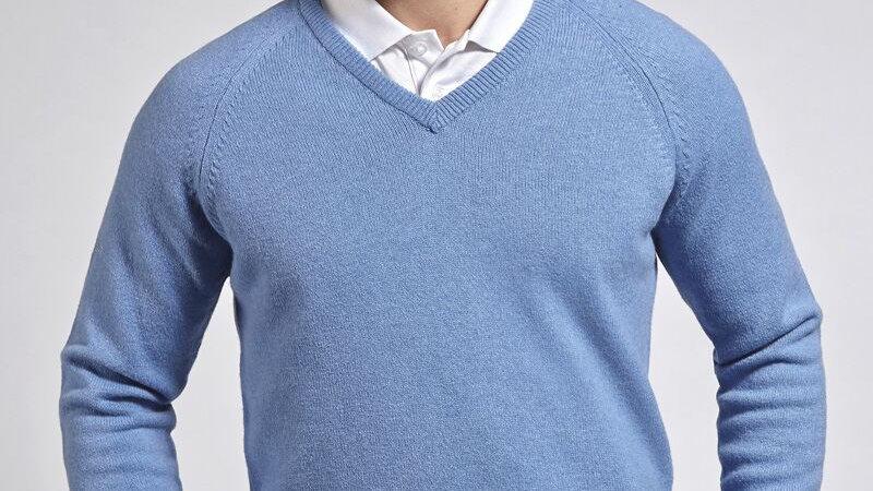 Glenmuir LEVEN Mens Lambswool Blend Golf Sweater