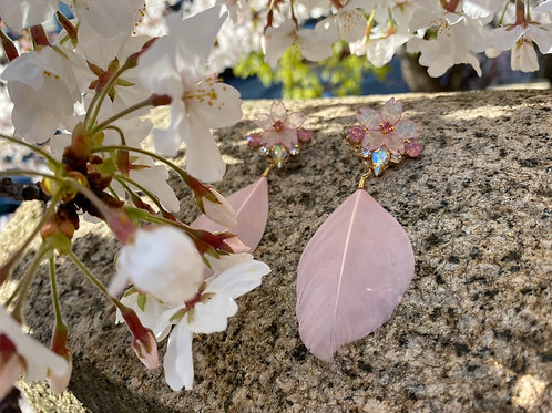 桜吹雪 ピアス(樹脂/アレルギー対応)