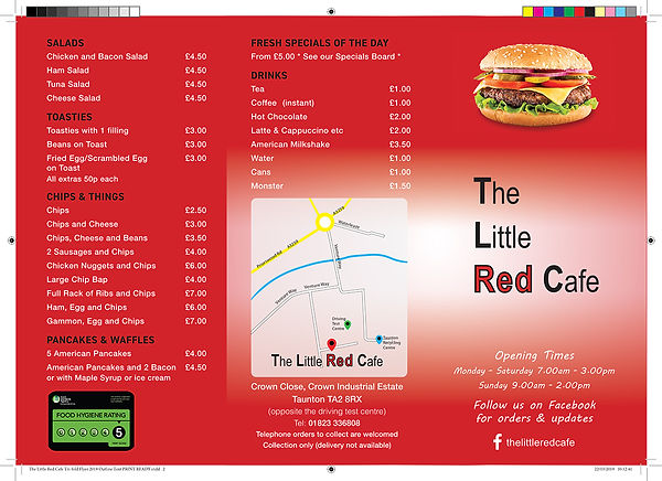 The Little Red Cafe Tri-fold Flyer 2019