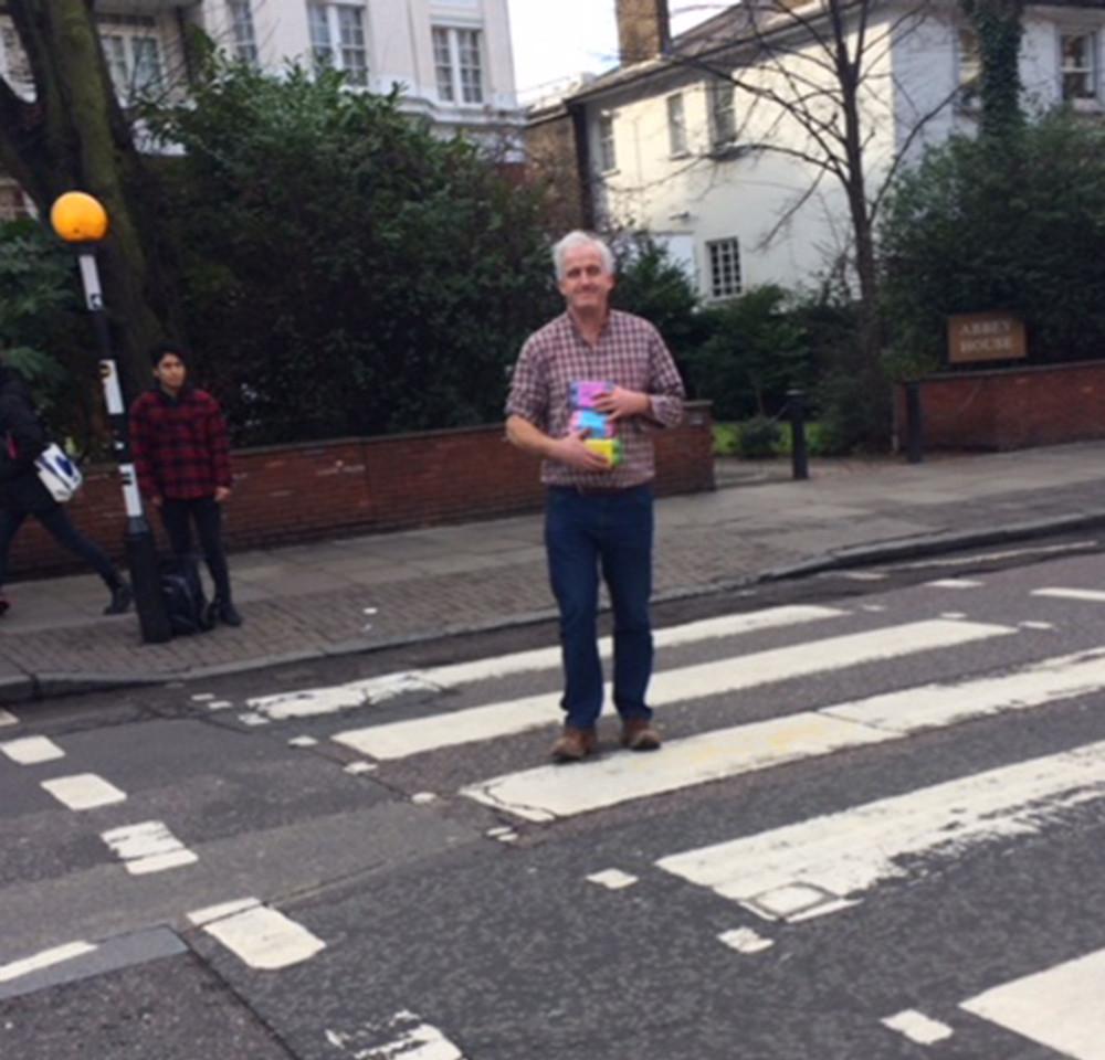 eggs crossing Abbey Road