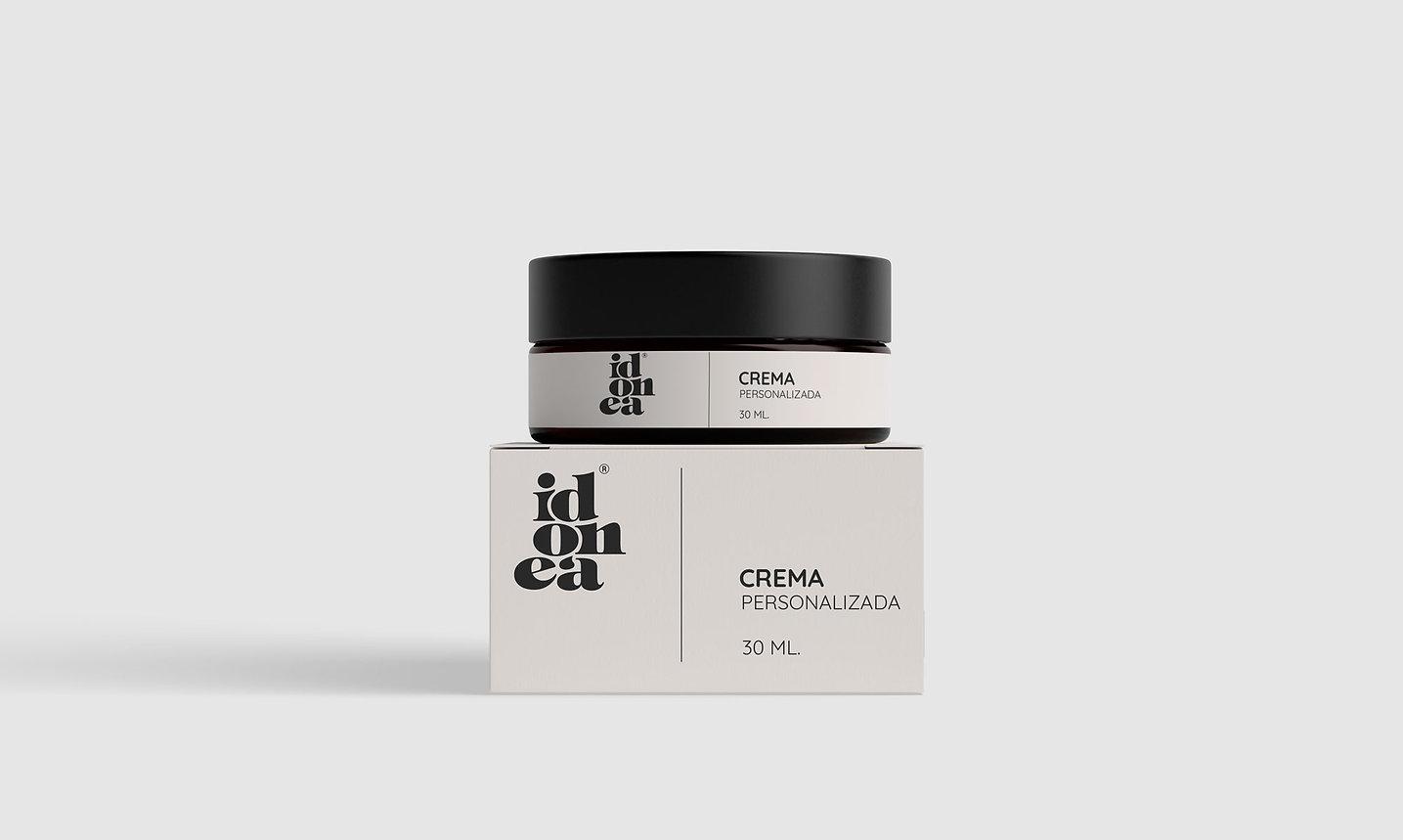 Diseño grafico packaging freelance para crema cosmetica idonea