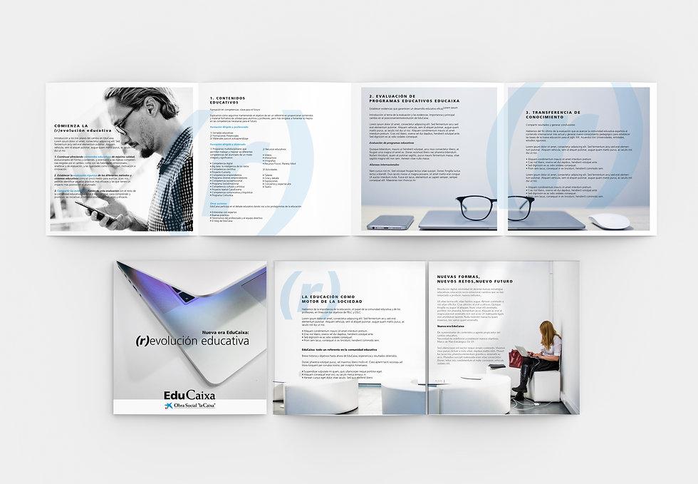 Cuidado diseño grafico freelance folleto fundacion social