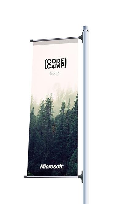 Raul sauz Microsoft Evento banderola creatividad freelance diseño grafico concepto