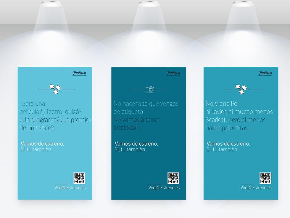 Freelance Creativo Madrid Diseño gráfico carteles y Copy para Telefónica