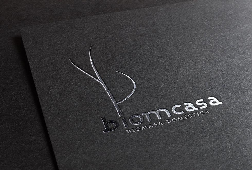 Diseño Grafico Freelance de Logotipo en relieve para biomasa