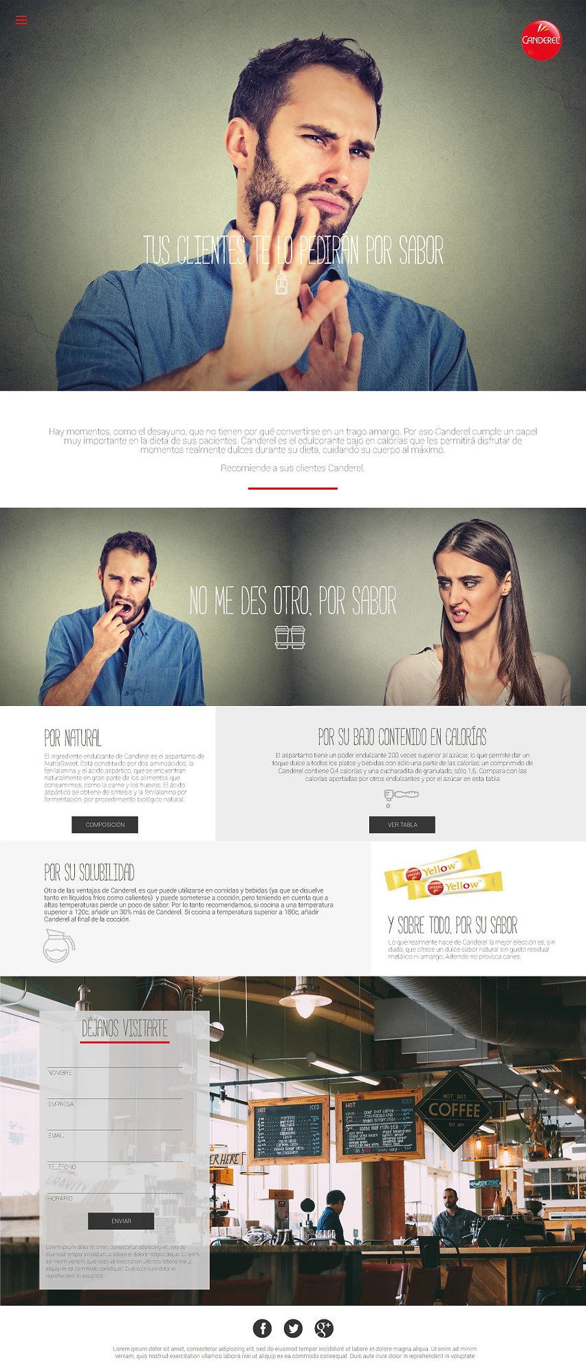 Raul sauz Publicidad Creativo Freelance Madrid Diseño web Canderel