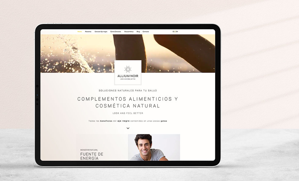 Diseño Grafico Freelance de web para empresa cosmetica vegana