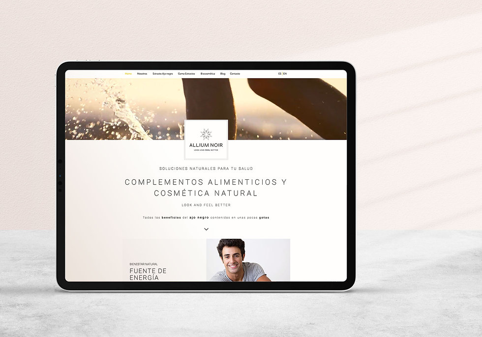 Diseño Grafico Freelance web de cosmetica vegana
