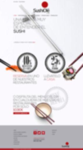 magnifico Diseño Grafico Freelance de web de restaurante de sushi