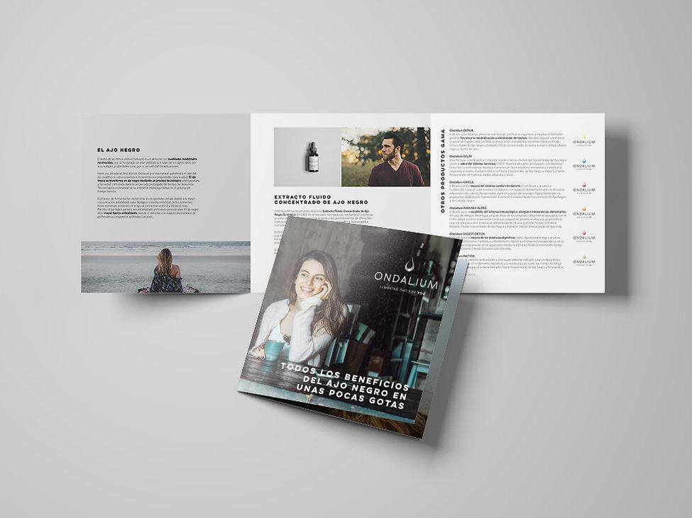 sofisticado Diseño grafico freelance de folleto gama productos complementos alimentarios