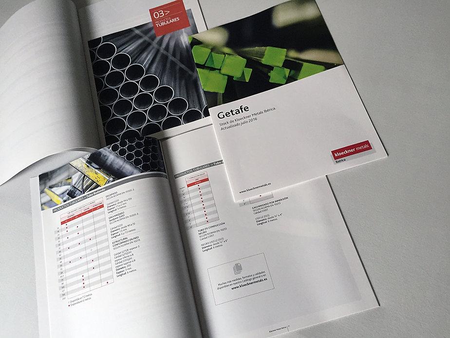 elegante Diseño Grafico Freelance de catalogos y folletos de distribucion metales