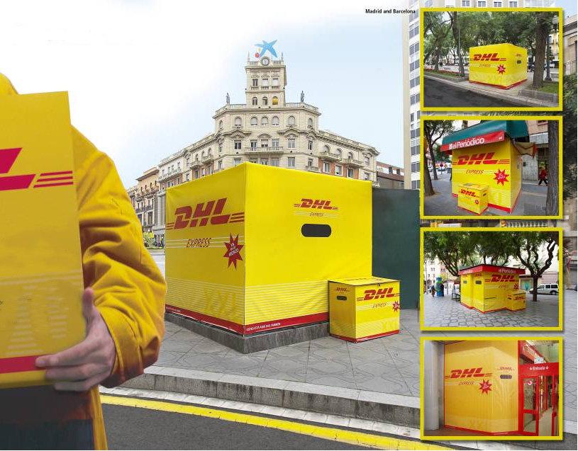 Raul Sauz Publicidad Creativo Freelance Madrid Diseño gráfico exterior dhl