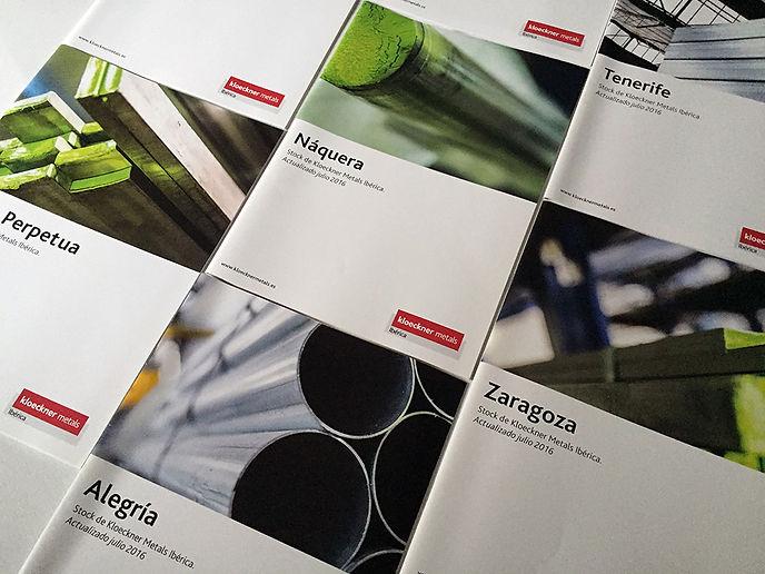 significativo Diseño Grafico Freelance de catalogos y folletos de distribucion metales