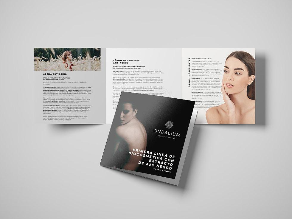 elegante Diseño grafico freelance de folleto cosmetica vegana