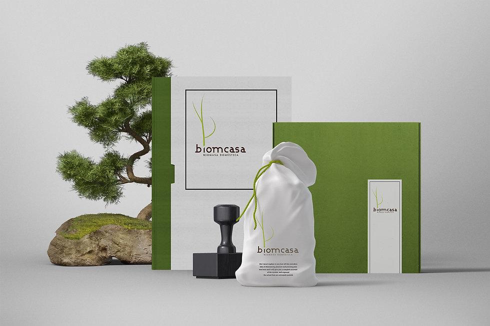 piezas del Diseño Grafico Freelance de Logotipo para biomasa