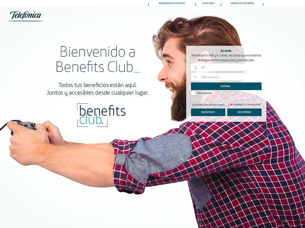 Diseno home web club telefonica Freelance Creativo Madrid