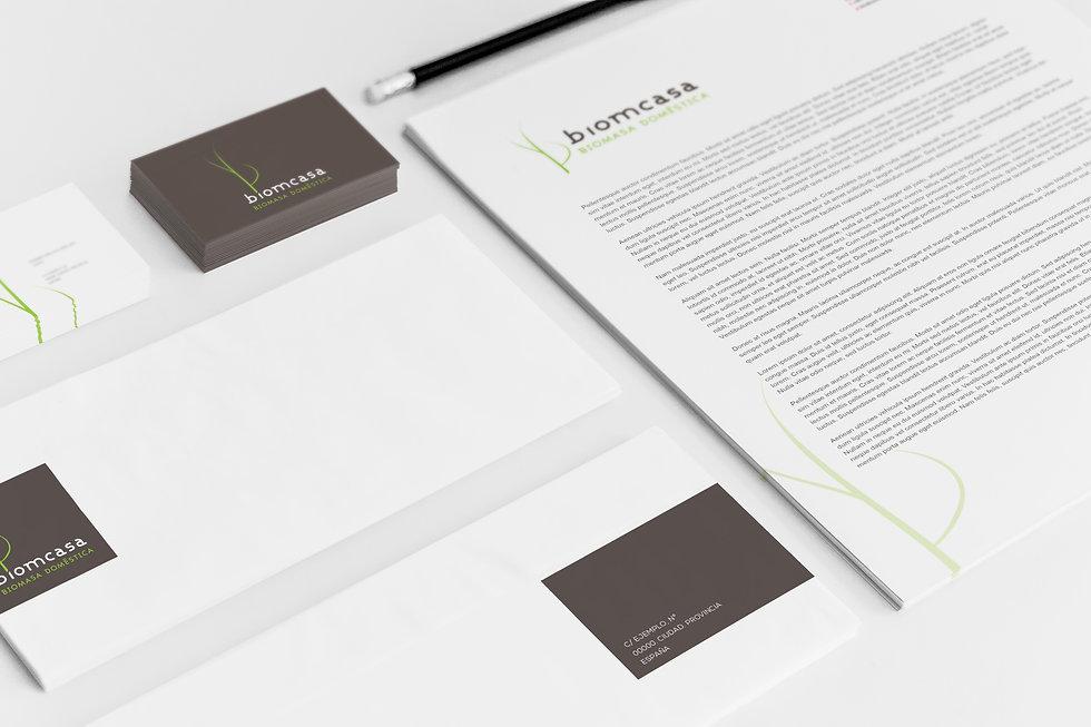 aplicacion a papeleria del Diseño Grafico Freelance de Logotipo para biomasa