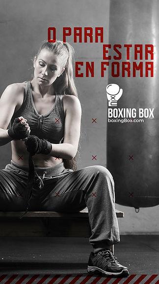 Diseño de Storie de instagram para centro de boxeo en redes sociales