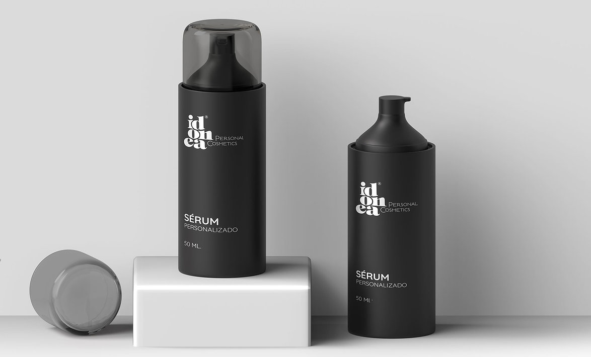 Diseño grafico packaging serum idonea cosmetica inteligente