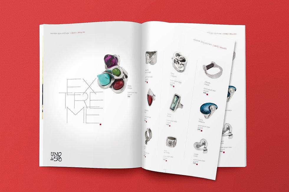 Diseno grafico freelance de magazine para retail joyas