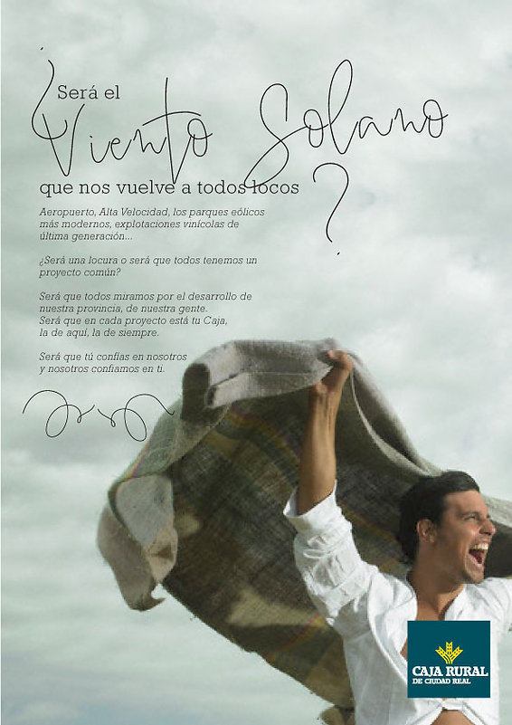 Raul Sauz Publicidad Creativo Freelance Madrid Diseño gráfico Cartel publicidad exterior Caja rural