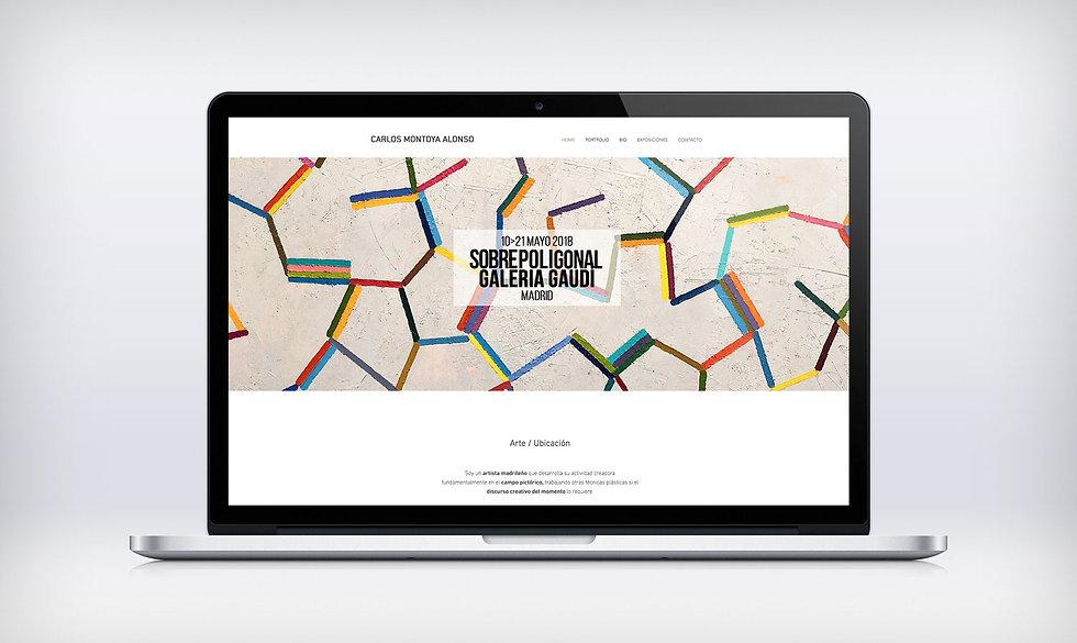 refinado Diseño Grafico Freelance de web portfolio para artista plastico