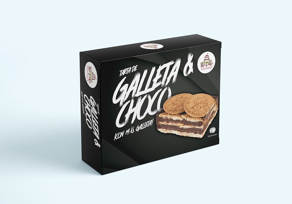 clasico diseno grafico de packaging de tarta de galleta