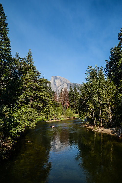 'Half Dome Reflection' Photo Print