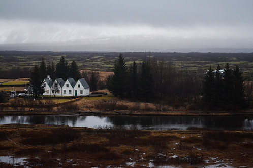 'Four White Houses' Photo Print