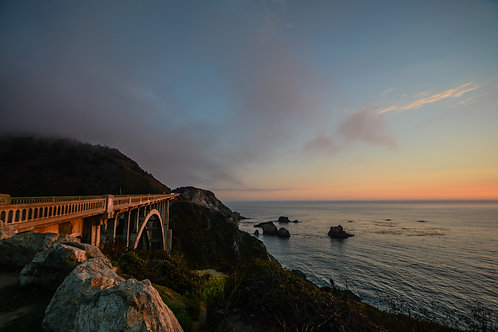 'Bixby Creek Bridge Sunset Chase' Photo Print