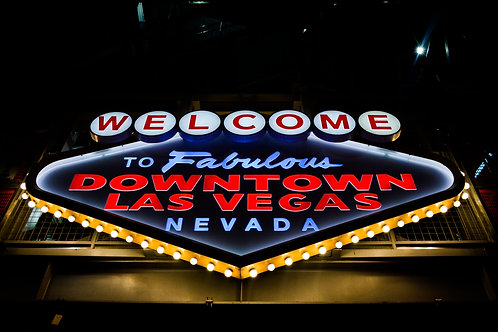 'Welcome to Fabulous Downtown Las Vegas' Photo Print