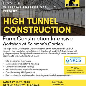 Farm Construction for Beginning Farmers: High Tunnel  Invitation