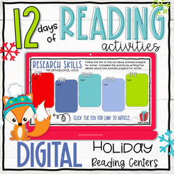 Digital Holiday Reading Activities - 12 Days Countdown
